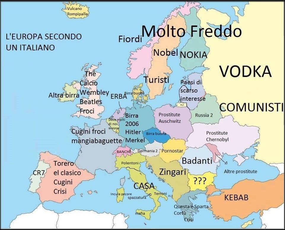 Mappa cartina italiani europa KEBLOG