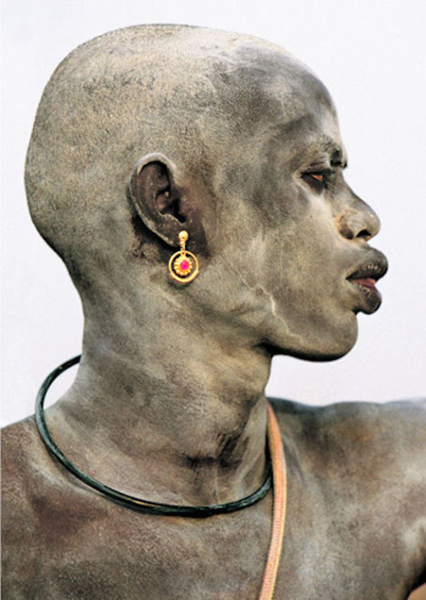 Dinka Man Covered in Ash