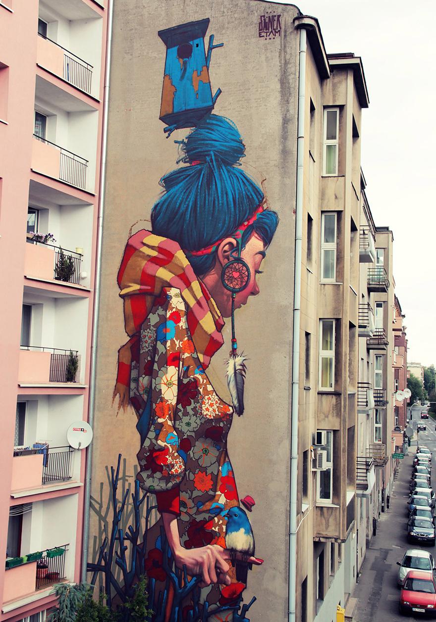 murali murales street art graffiti sainer bezt etam cru 16 keblog. Black Bedroom Furniture Sets. Home Design Ideas