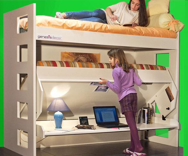 Mobili salvaspazio letto scrivania