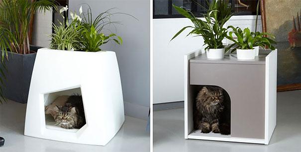 Mobili salvaspazio fioriera cuccia gatto