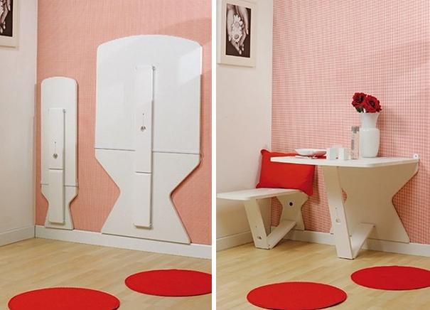 Mobili salvaspazio sedie tavolo pieghevoli parete
