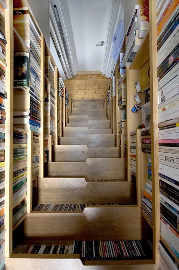 Mobili salvaspazio scala libreria