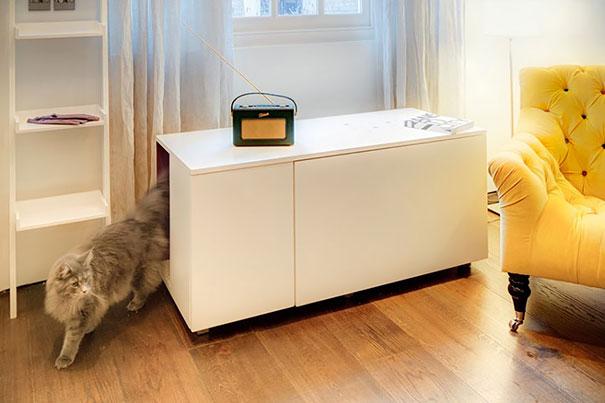 Mobili salvaspazio lettiera gatto