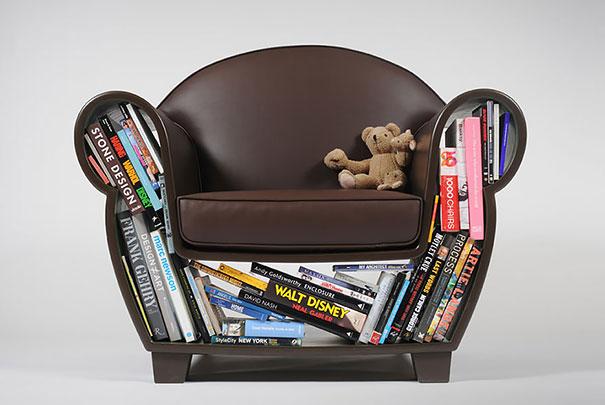 Mobili salvaspazio poltrona libri