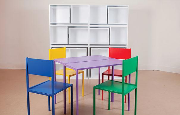 Mobili salvaspazio libreria tavolo sedie