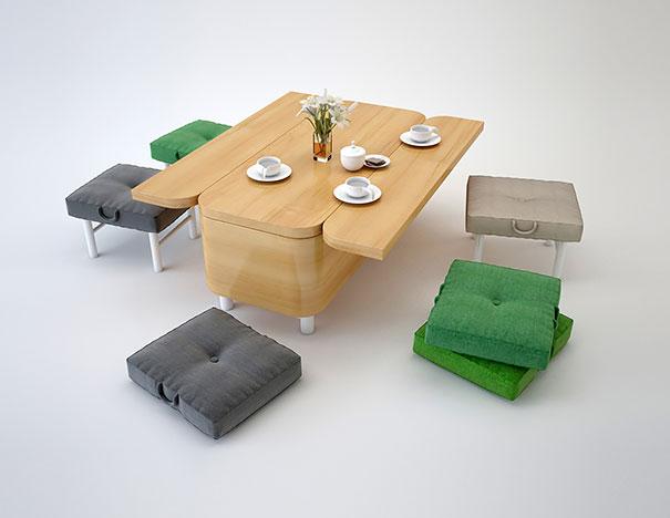 Mobili salvaspazio divano tavolo sedie