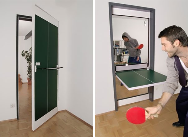 Mobili salvaspazio porta tavolo ping pong