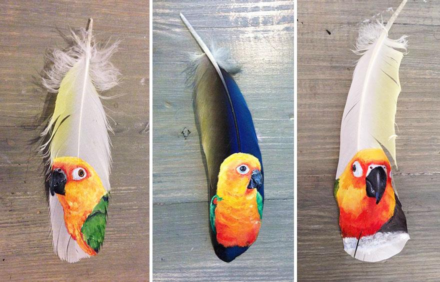 olio-acrilico-pittura-penne-piume-pappagallo-jamie-homeister02