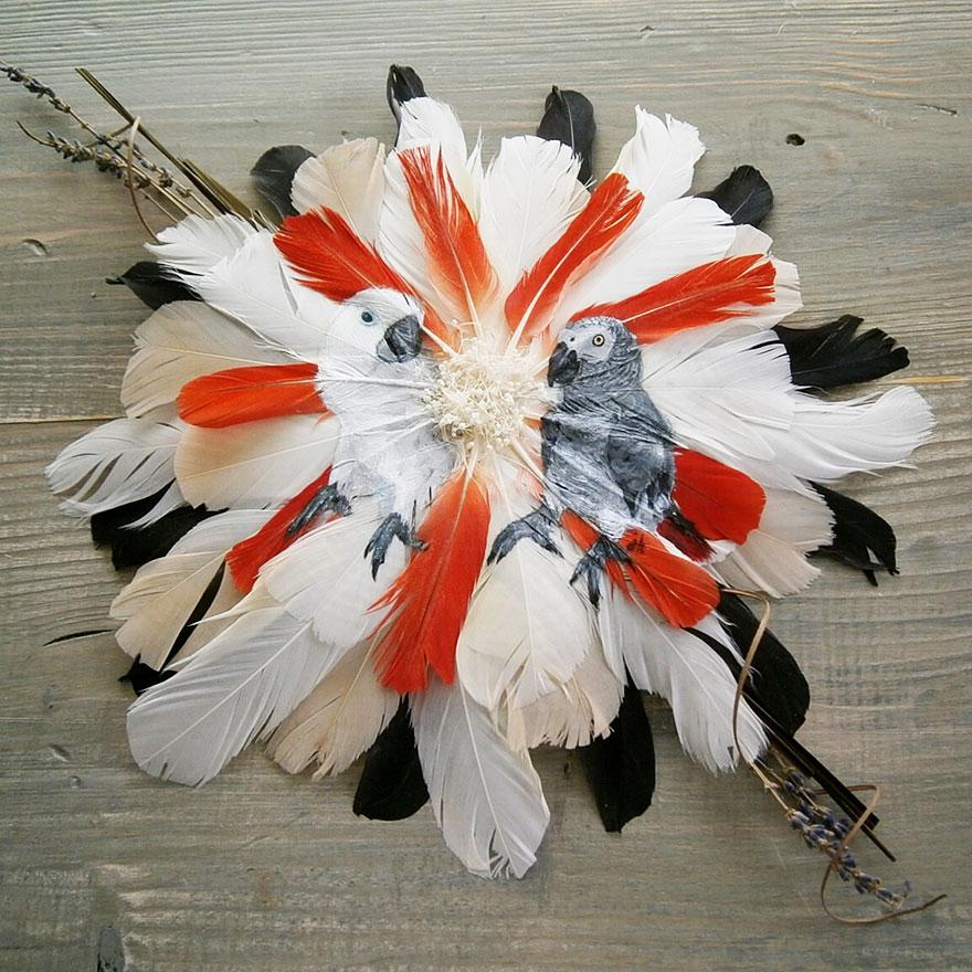 olio-acrilico-pittura-penne-piume-pappagallo-jamie-homeister04