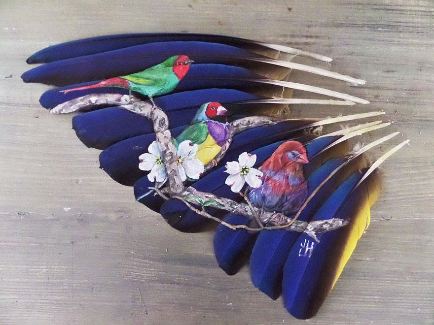 olio-acrilico-pittura-penne-piume-pappagallo-jamie-homeister09