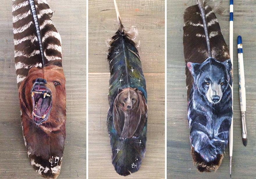 olio-acrilico-pittura-penne-piume-pappagallo-jamie-homeister14