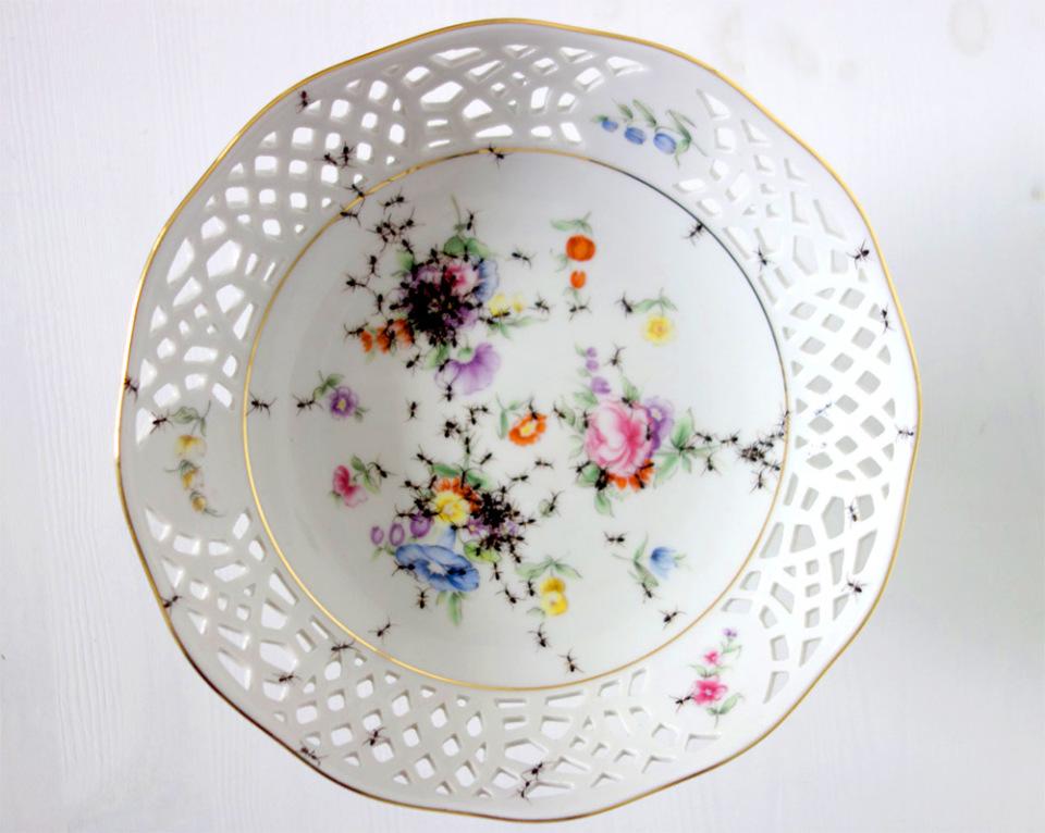 piatti-porcellana-dipinti-a-mano-formiche-Evelyn-Bracklow-7