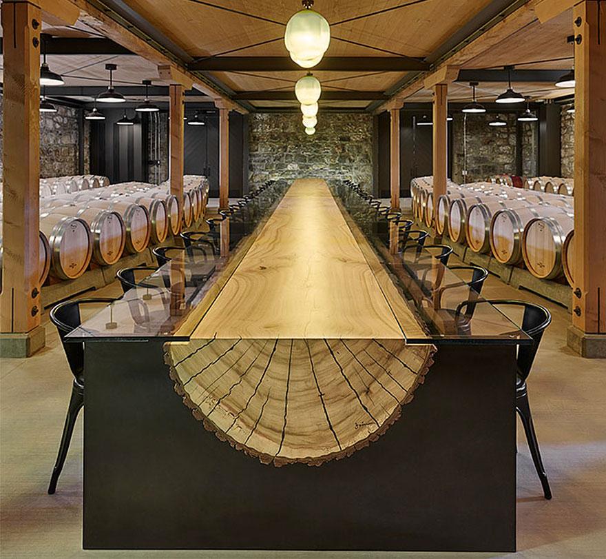Tavoli Con Tronchi Di Legno.21 Tavoli Dal Design Straordinario E Creativo Come Opere D Arte