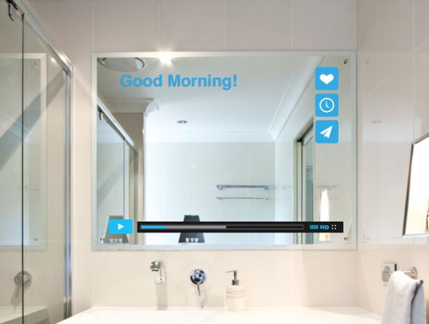 Adesivi per specchio bagno