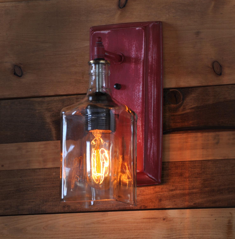 lampadari stile industriale da parete : lampadari-applique-lampade-creativi-post-industriale-bottiglie ...