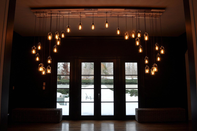Lampadari applique lampade creativi post industriale bottiglie