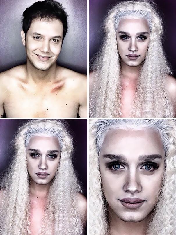 Questo Tipo Usa Il Make Up Per Trasformarsi In Famose