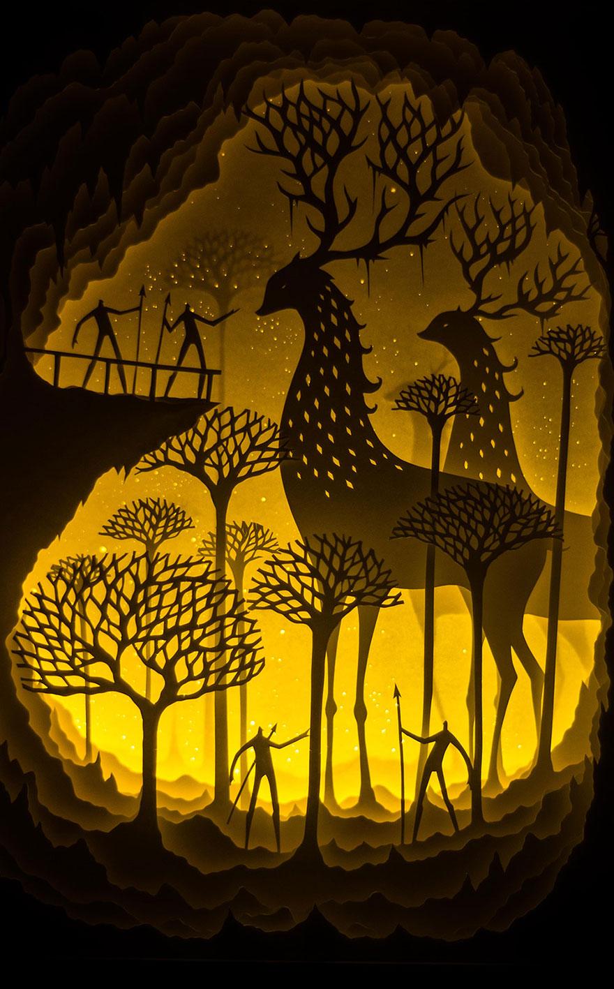 sculture-arte-carta-luminose-ombre-hari-deepti-04