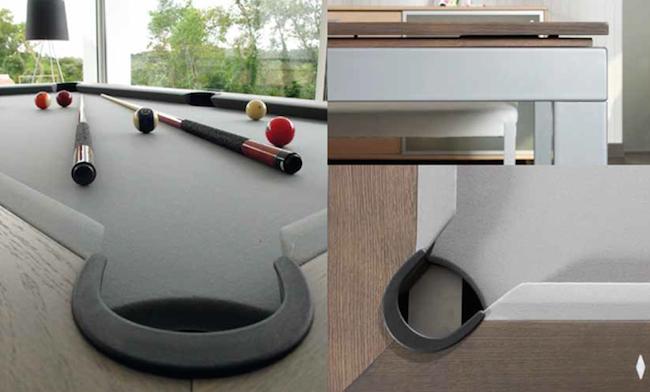 Un tavolo da pranzo che diventa tavolo da biliardo in un batter d 39 occhio keblog for Tavolo da biliardo trasformabile in tavolo da pranzo