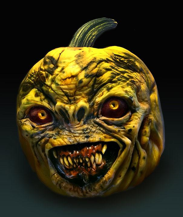 Zucche Di Halloween Terrificanti.Incide Delle Zucche Di Halloween E Le Rende Terrificanti Keblog