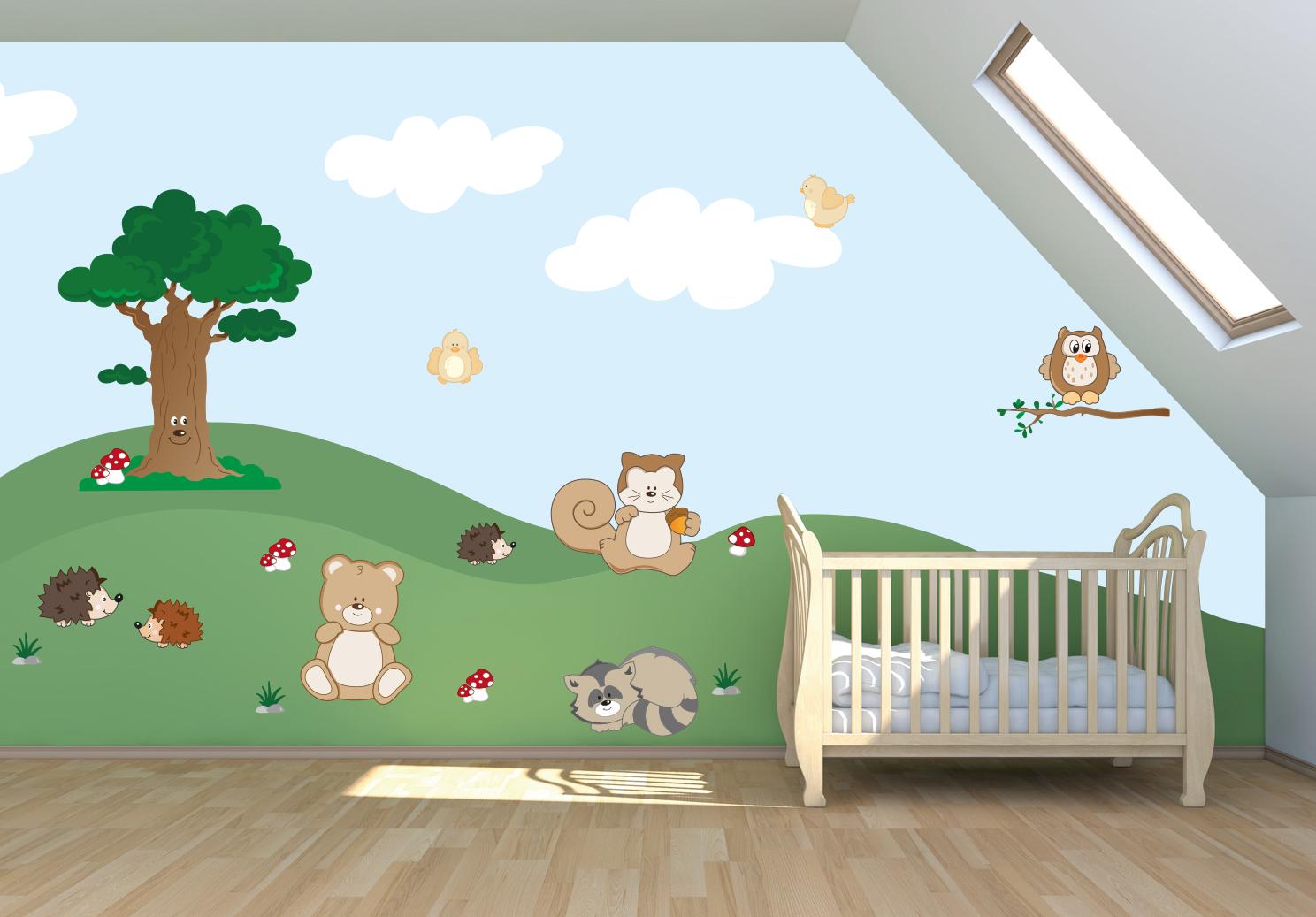 Decorazioni murali per ragazzi: adesivi murali tre cagnolini ...