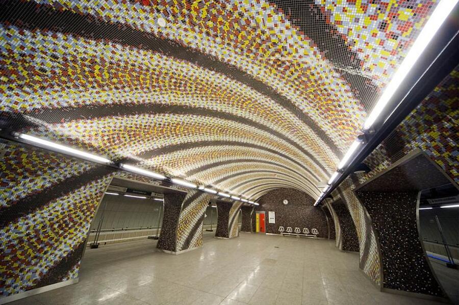 Mosaico nella Szent Gellért Square, Budapest, Ungheria