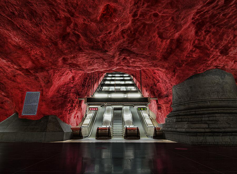 Stazione di Rådhuset, Stoccolma, Svezia