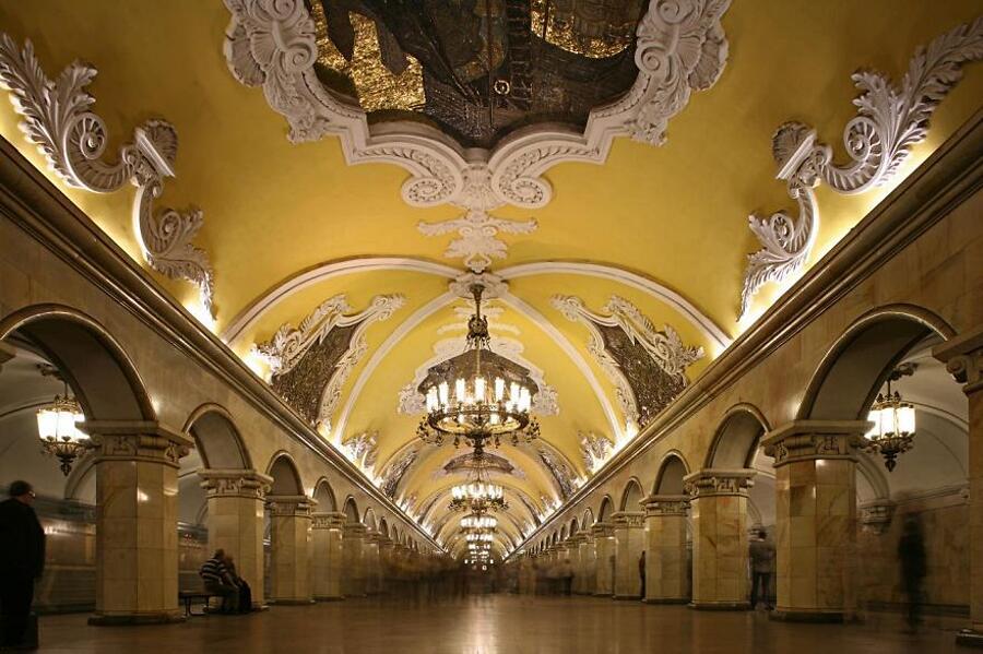 Stazione metro di Avtovo, S. Pietroburgo, Russia