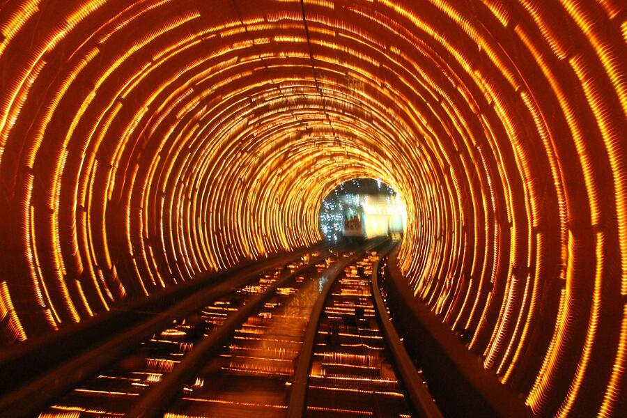 Bund Sightseeing Tunnel, Shanghai, Cina