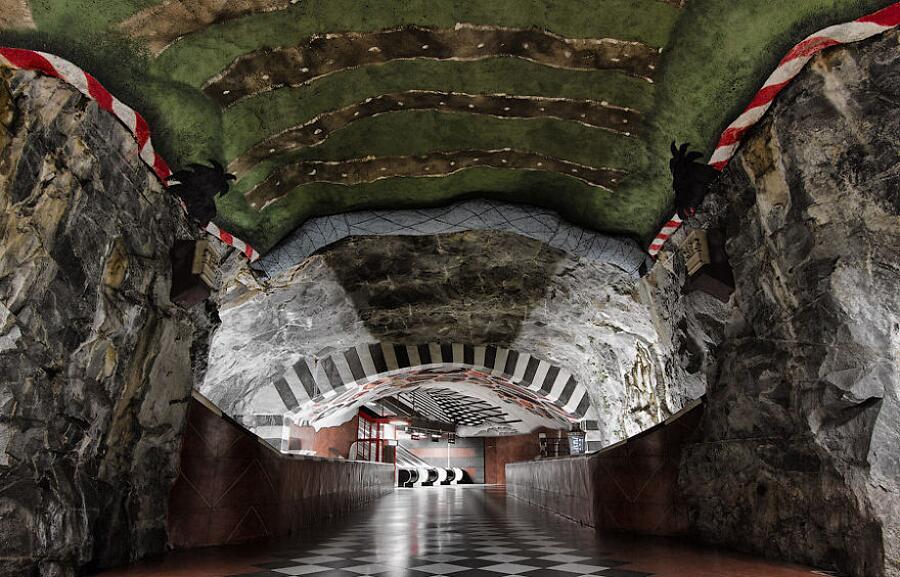 Stazione metro di Kungstradgarden, Stoccolma, Svezia