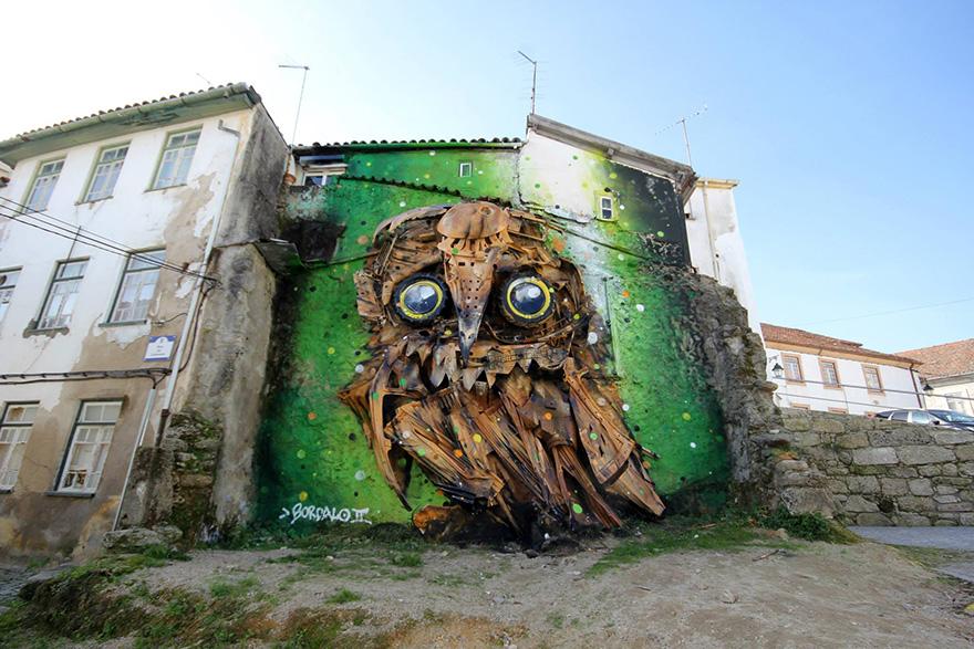 street-art-scultura-rifiuti-riciclati-gufo-artur-bordalo-1