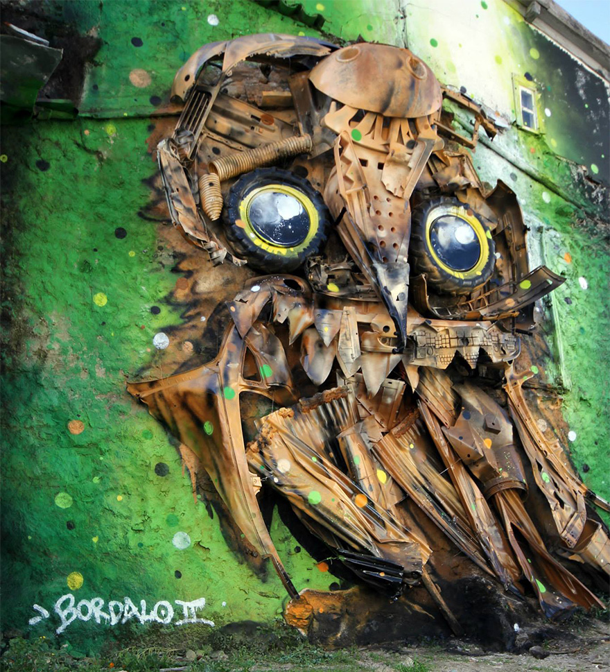 street-art-scultura-rifiuti-riciclati-gufo-artur-bordalo-2