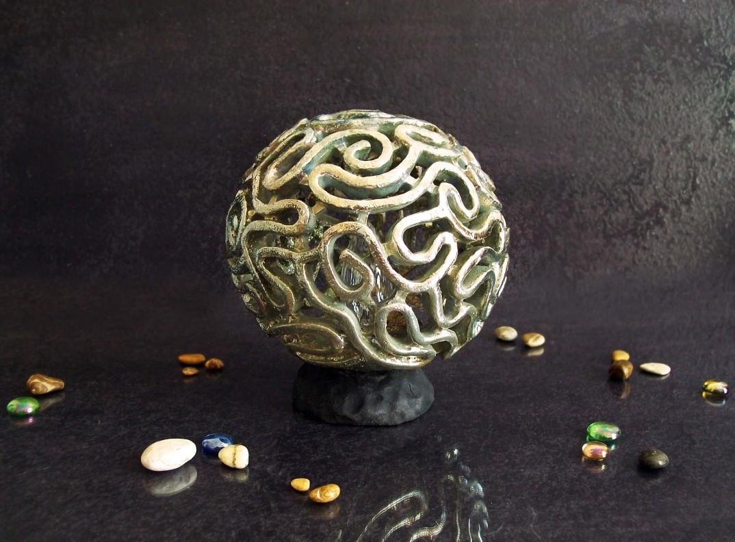 Lampada corallo cervello raku