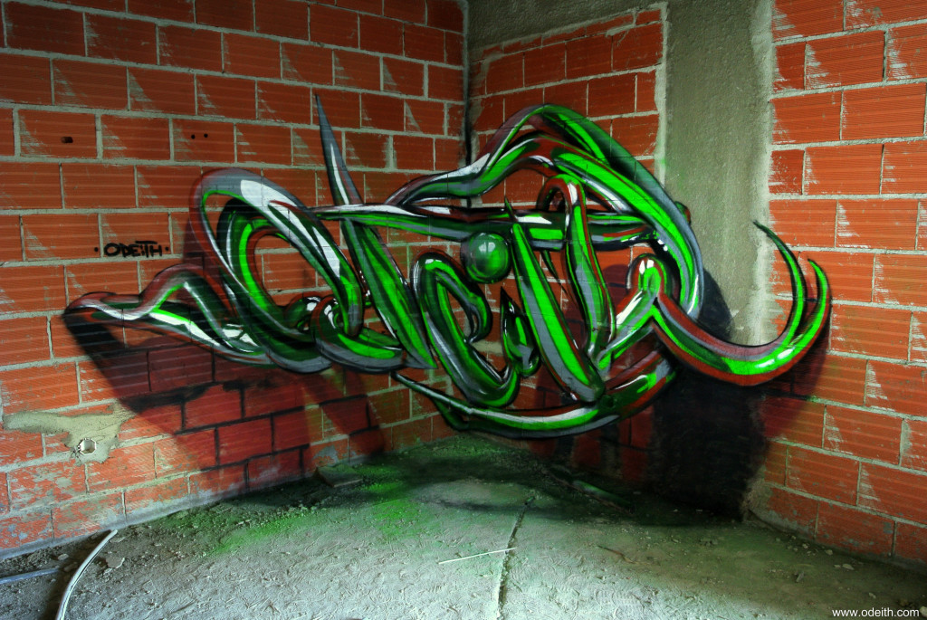 Odeith-anamorphic-3d-green-tubes-raw-bricks-lisboa