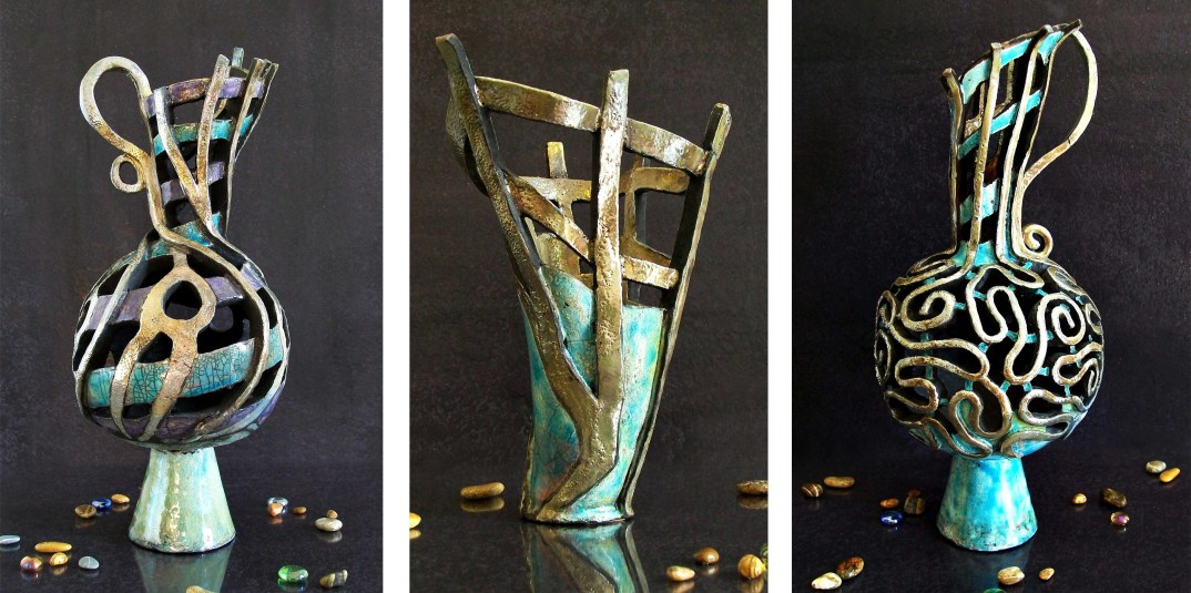 vaso anfora marini ceramica raku