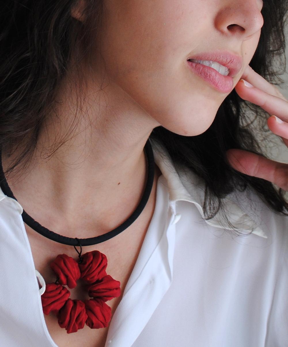 MARGARITA Necklace-gioielli-artigianali-ecosostenibili-in-tessuto
