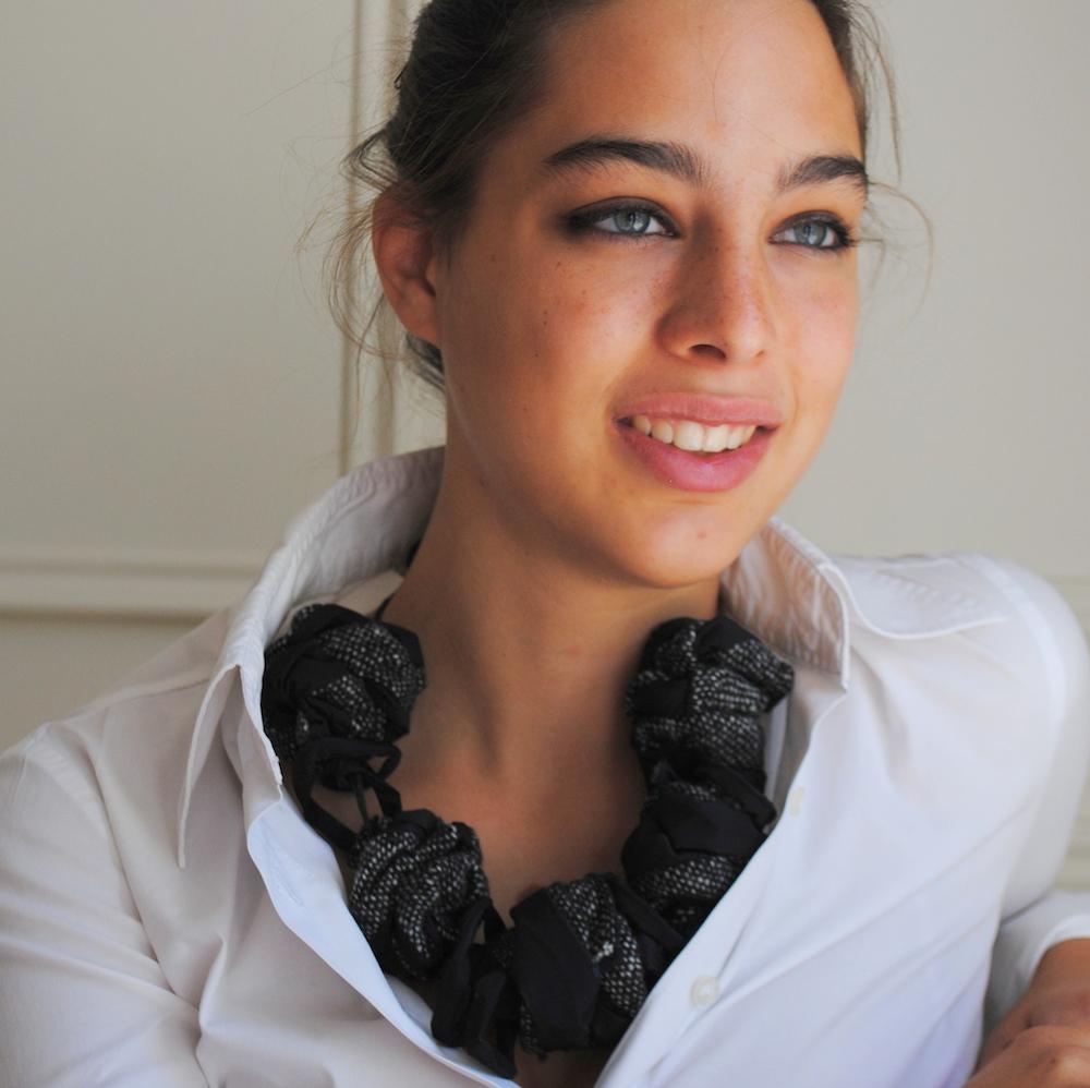 SALT & PEPPER Necklace-gioielli-artigianali-ecosostenibili-in-tessuto