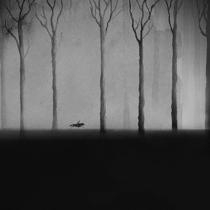 acquerelli-bianco-e-nero-bambini-animali-elicia-elidanto-1