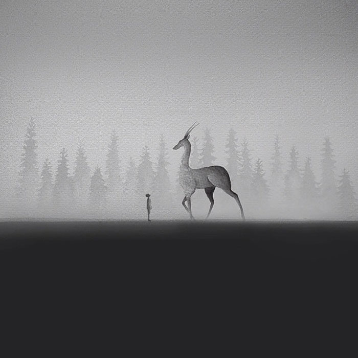 acquerelli-bianco-e-nero-bambini-animali-elicia-elidanto-4