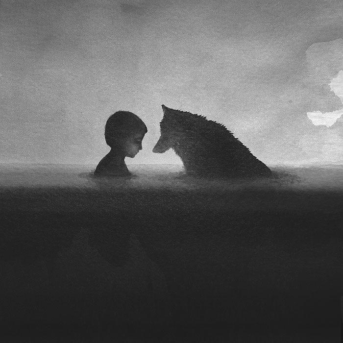 acquerelli-bianco-e-nero-bambini-animali-elicia-elidanto-6