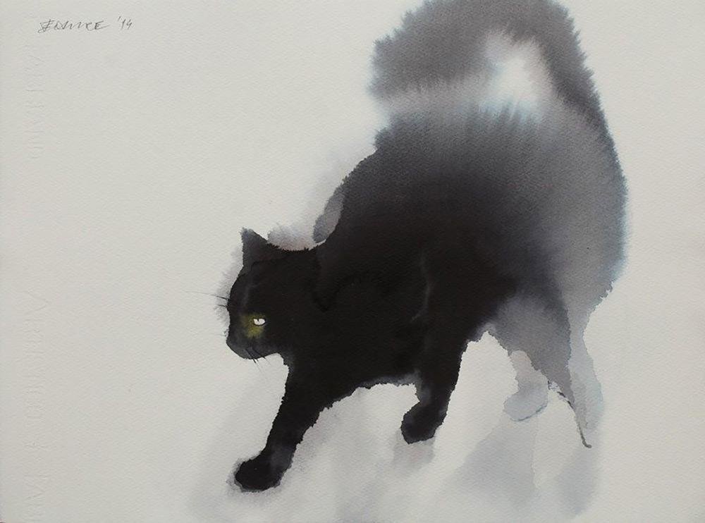 acquerelli-gatti-neri-endre-penovac-1