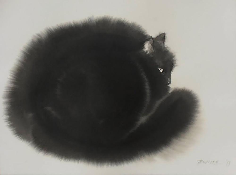 acquerelli-gatti-neri-endre-penovac-2
