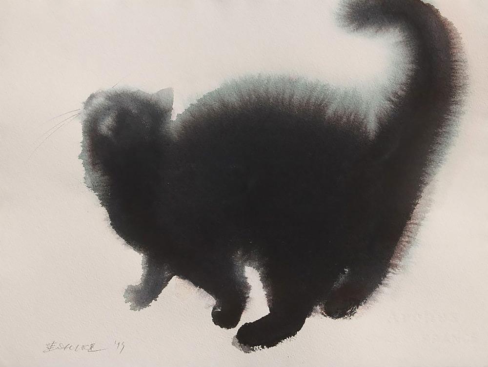 acquerelli-gatti-neri-endre-penovac-4