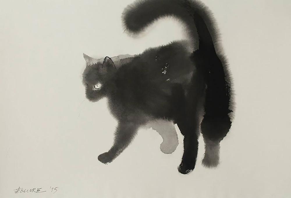 acquerelli-gatti-neri-endre-penovac-7