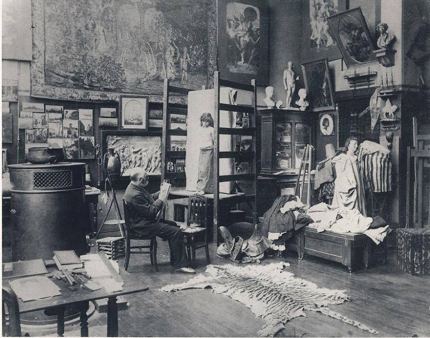 Foto Di Artisti Famosi Nei Loro Studi Gustave Clarence Rodolphe Boulanger