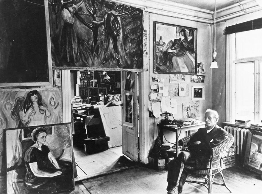 Foto Di Artisti Famosi Nei Loro Studi Edvard Munch