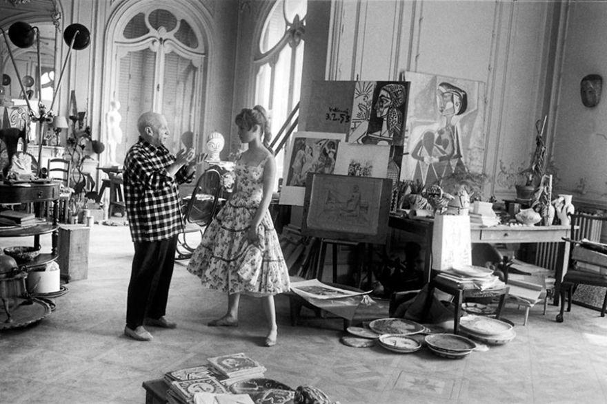 Foto Di Artisti Famosi Nei Loro Studi Pablo Picasso