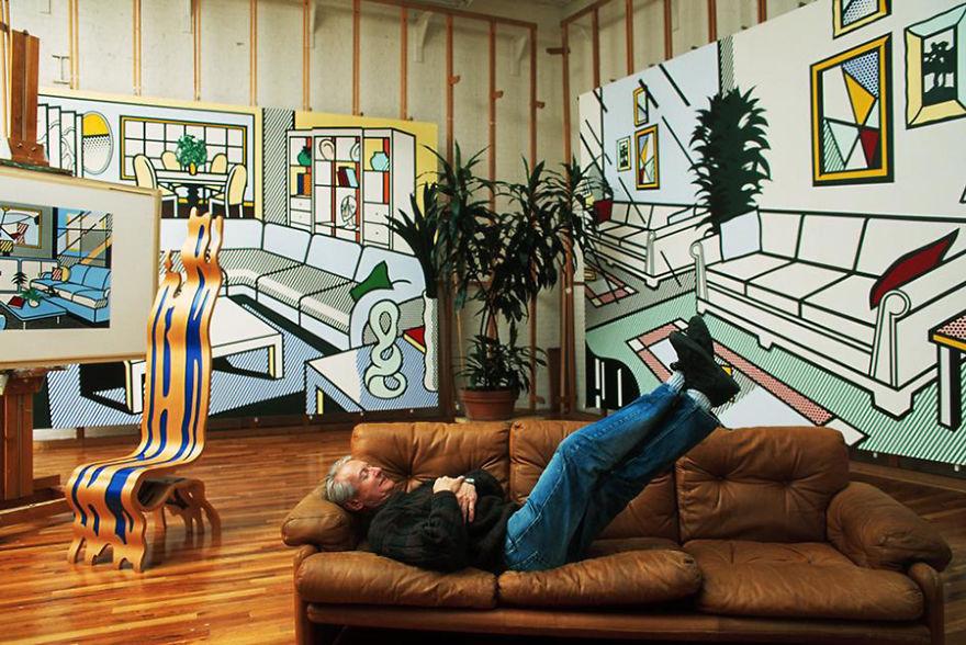 Foto Di Artisti Famosi Nei Loro Studi Roy Lichtenstein