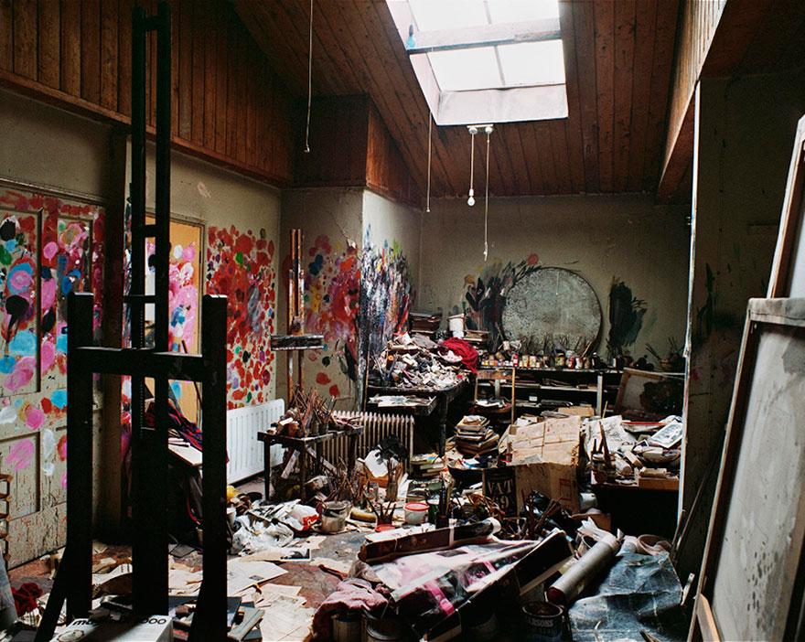Foto Di Artisti Famosi Nei Loro Studi Francis Bacon